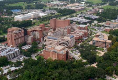 Aerial view of the Shands Hospital for Children at UF