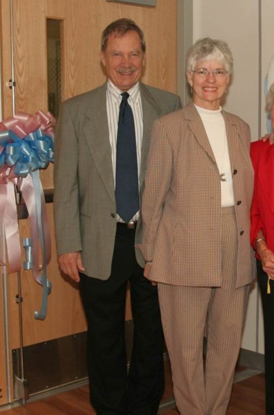 Dr. and Mrs. Eitzman at the Grand Opening of the Donald V. Eitzman, MD Regional Neonatal Intensive Care Unit