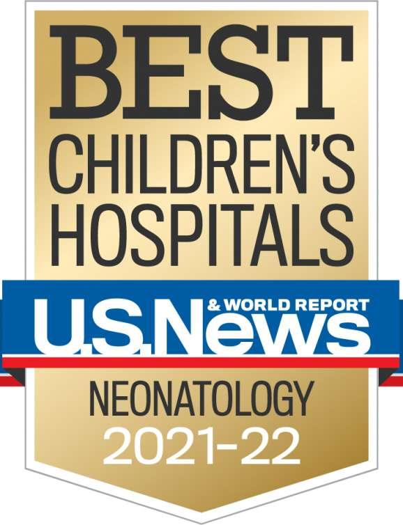 US. News Best Children's Hospital Badge 2021-2022